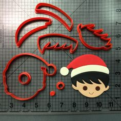 Christmas Boy 100 Cookie Cutter Set JBCookieCutters.com customizes moldings, cookie cutters, cookie cutter, cutters, cutter, silicone mold, silicone molds, stencil, stencils, baking supplies, baking