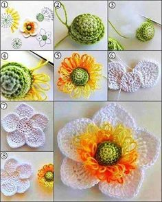 15 DIY Crochet Flower Patterns: Here we have collected a number of DIY crochet patterns, and in the beginning we have provided a whole map chart which would Crochet Chart, Crochet Motif, Irish Crochet, Easy Crochet, Crochet Stitches, Knit Crochet, Crochet Flor, Diy Crochet Flowers, Crochet Puff Flower