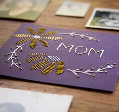 #diy embroidered mother's day card