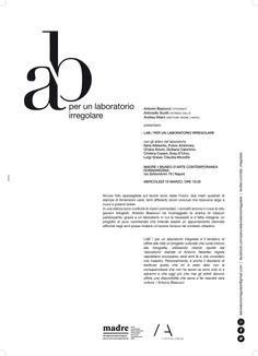 Ieri al Museo Madre di Napoli, per la presentazione di LAB \ PER UN LABORATORIO IRREGOLARE di Antonio Biasiucci Un bel progetto che ha richiamato oltre 600 persone. E' stato un piacere esserci con i miei boccaccielli. E ora: in bocca al lupo per la mostra.