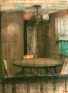 "Dining Room - 1979. Pastel on paper. 18"" X 24"" $250"