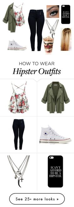 featuring Armani Jeans, Converse and Casetify Jeans And Converse, Outfits With Converse, Converse Fashion, White Converse, Fashion Sandals, Teen Fashion, Fashion Outfits, Womens Fashion, Fashion Trends