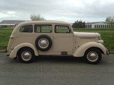 1937 International D2 Van, timber panel lining.