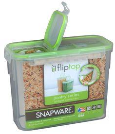 SNAPWARE 11 Cup Slim Flip Top Rectangle Storage Container