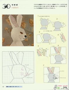 paper pieced bunny