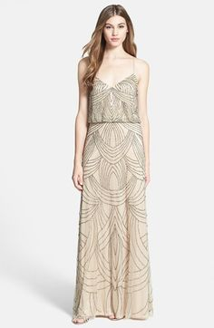 Adrianna Papell beaded chiffon dress | buy it: http://rstyle.me/n/qau3wsque
