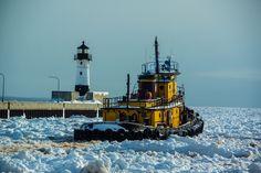 Ice sea Tug boat