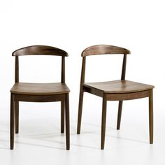 Set of 2 GALB Oak or Walnut Chairs AM.PM. | La Redoute Mobile