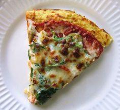 Cauliflower pizza crust. This stuff is so good!!