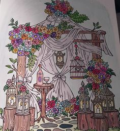 ColorIt Blissful Scenes Colorist: Diane Cole #adultcoloring #coloringforadults #blissfulscenes