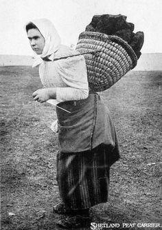 shetland knitter 1910  many women had nothing so as they walked to find work they would knit socks or mittens to sell