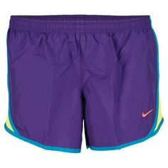 "The Nike Girls' Tempo Running Shorts Purple are great for any athletic activity. These Dri FIT shorts have an elastic waist and an internal drawcord for the perfect fit, with mesh side panels for great ventilation. A hidden coin/key pocket and brief liner add practical performance. Fabric: 100% Polyester TaffetaTechnology: Dri FITColor: Court Purple/Volt/Tropical TealInseam: 2.6""For information regarding sizes, please refer to our sizing chart."