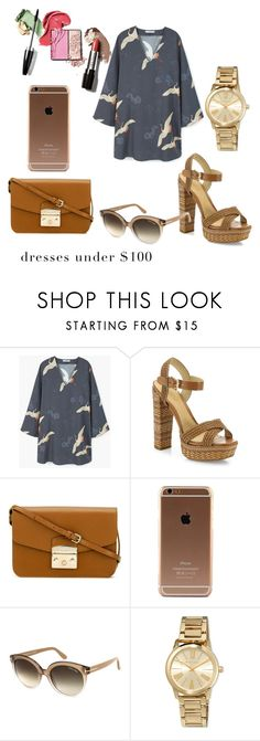 """""""dress under 100$"""" by saraasecci on Polyvore featuring MANGO, Schutz, Furla, Tom Ford and MICHAEL Michael Kors"""