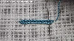 Heavy Chain Stitch used in Hand Embroidery. For more information on the heavy chain stitch and other hand embroidery stitches, visit Needle 'n Thread: www.ne...