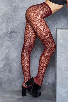 ❌ Flapper Burgundy Hosiery - LIMITED