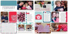 Fotos com legendas e textos com molduras coloridas