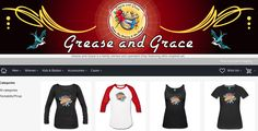 grease and grace, spreadshirt, shirts, apparel, tee, tshirt, t-shirt, tank top, mugs, sweatshirt, rockabilly, sarcastic, humor, witty