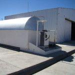 Ya funciona la planta de combustible en el campamento Las Grutas