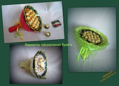 "МК ""чайно-конфетного"" букета Origami, Candy Crafts, Chocolate Bouquet, Candy Bouquet, Favor Boxes, Arts And Crafts, Birthday, Creative, Flowers"
