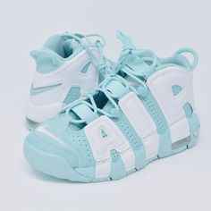 """fa37a2c51454 Nike Air More Uptempo """"Island Green"""". Size 3.5Y"""