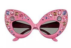 pink rhinestone sunnies - Dame Edna-esque