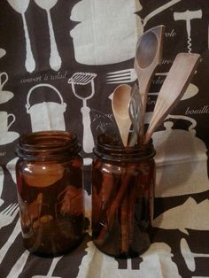Vintage amber AGEE preserving jars