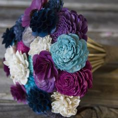 """Yes perfect!!! These bouquets are gorgeous and great prices!  Wood flowers bouquet """"Santa Monica"""" Ecoflowers www.ecoflowers.com"""