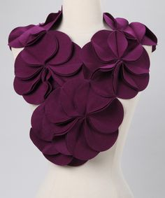 Plum Blossom Wool-Blend Scarf,this is awesome. I might actually try to make something like it one day.