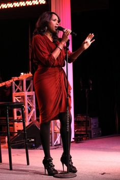 Jennifer Hudson performs at the Happy Hearts Event