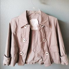 "❤HP❤-Jacket by CINO Very cute cotton jacket with so much style. Length 18 1/2""-sleeve 16 1/2""- chest 19 1/2"". Gently worn. No trades Cino Jackets & Coats"