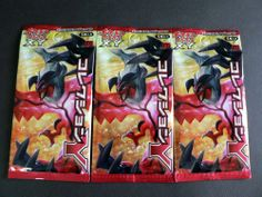 LOT OF 3 PACKS POKEMON CARD GAME XY BOOSTER COLLECTION Y ( Card x15pcs)