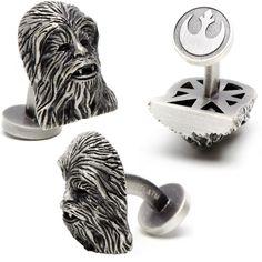 Star Wars 3-D Palladium Chewbacca Cufflinks