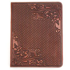 Nocona Western Tooled Leather iPad Case at Maverick Western Wear