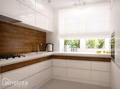 kuchnia z oknami na wysokosci blatu - Szukaj w Google Modern Kitchen Furniture, Modern Kitchen Design, Home Decor Kitchen, Kitchen Interior, New Kitchen, Cashmere Kitchen, Red And White Kitchen, Cozy Apartment, Cuisines Design