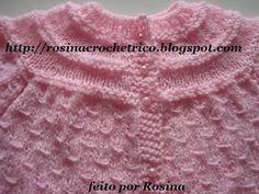 casaquinhos de trico para bebe passo a passo - Pesquisa Google Crochet Bebe, Knit Crochet, Dress Patterns, Crochet Patterns, Knit Dishcloth, Baby Knitting, Diy Crafts, Clothes, Baby Jumpers