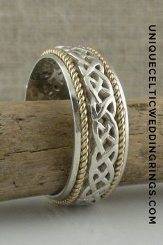 Celtic Love Knot Wedding Ring — Unique Celtic Wedding Rings — Unique Celtic Wedding Rings Irish Wedding Rings, Celtic Love Knot, Unique Rings, Knots, Cuff Bracelets, Bling, Sterling Silver, My Style, Jewelry