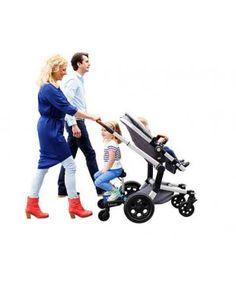 Maxi+ Black Saddle Grey Stroller