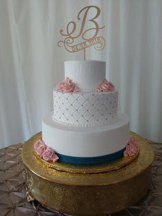 Wedding Cakes in Columbia SC Region . Beaded Wedding Cake, Navy Blue Wedding Cakes, Gold Wedding, Debut Cake, Travel Bridal Showers, Vintage Bakery, Buttercream Wedding Cake, Gold Cake, Shower Cakes