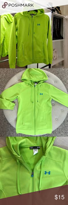 Under Armour Jacket Hoodie Fleece lined under armour Jacket with hood. Excellent condition nice and warm Under Armour Tops Sweatshirts & Hoodies