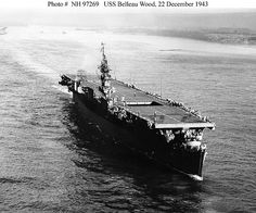 USS Belleau Wood was a US Navy Independence-class light aircraft carrier active during World War II in the Pacific theater. Navy Marine, Marine Corps, First Indochina War, Navy Carriers, Navy Aircraft Carrier, Us Navy Ships, Naval History, Military History, United States Navy