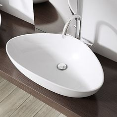 Durovin Bathroom Ceramic Countertop Basin Bowl White X