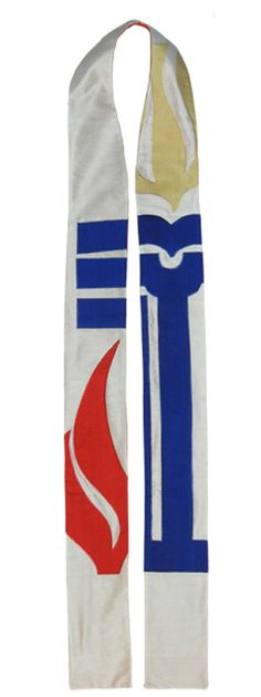 Most Presbyterian Ministers wear a Stole.  My Father wore one. I love the Symbols. Also love the Seasons of the Church year---especially the Advent Season.  Miss that now.