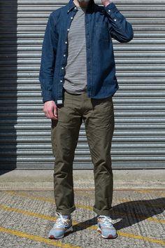 Indigo Denim One Wash BD Shirt by orSlow – The Bureau Belfast