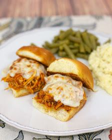 Plain Chicken: Slow Cooker Chicken Parmesan Sliders