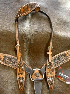 HORSE BRIDLE BREAST COLLAR WESTERN LEATHER HEADSTALL TACK RODEO BARREL RACING S1