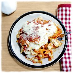 Ingredients:  2 lb. Chicken Breast Pieces or Breaded Chicken Patties 1 lb. Mrs. Miller's Tomato Basil Noodlesor Flavored Noodles of your choice 2 jar (25.5oz.) Mrs. Miller's Pasta Sauce (any flavor) 2 cups Mozzarella Cheese  Serve with Parmesan cheese  Directions:  Cook chicken until do