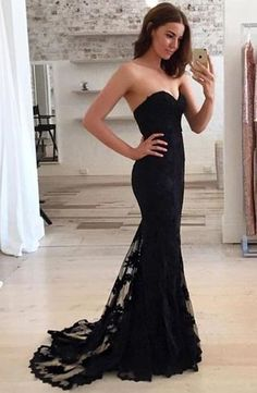 neck lace train long prom dress, long evening dress,floor length prom gown,long prom dresses