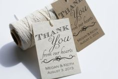 Printable Wedding Favor Tags,  Custom DIY Thank You Tags, Bridal Shower Tags, GIft Tags, Personalized Favour Tags 2x3 via Etsy