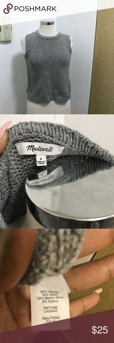 Madewell sleeveless shell sweater Semi cropped. Great condition. Open to sensible offers Madewell Sweaters