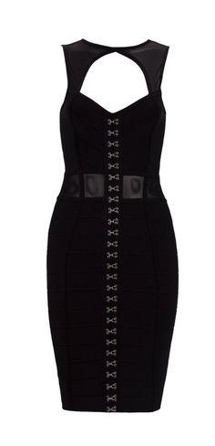 Akira Black Bandage Dress